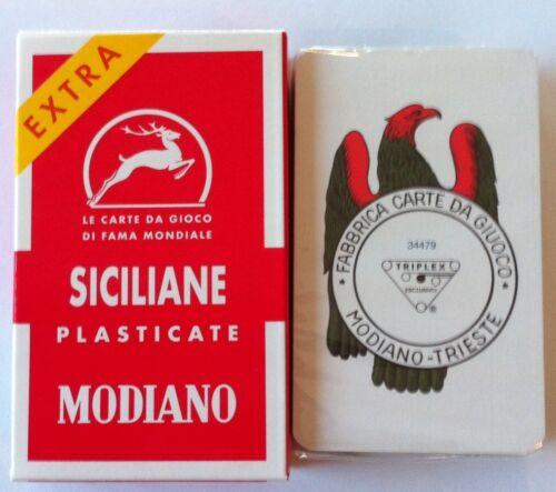 Modiano Siciliane Italian Playing Cards Carte Siciliani Briscola Scopa Italy NEW