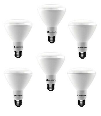 Ecosmart 65 Watt Equivalent Br30 Dimmable Led Light Bulb Soft White 6 Pack 815508021941 Ebay