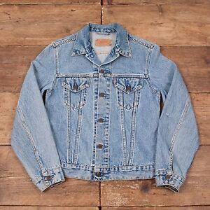 Mens-Vintage-Levis-Red-Tab-70500-Blue-Denim-Trucker-Jacket-Small-36-R5577