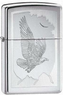 Zippo 21069 lighter birds of prey chrome