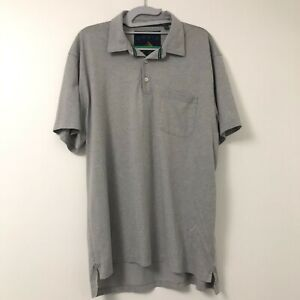 Orvis-Men-039-s-Gray-Fly-Fishing-Short-Sleeve-Polo-Shirt-Pocket-Size-Large