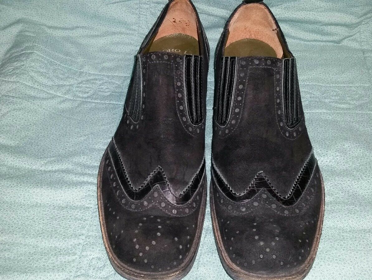 30a9c3d067c SOHO LAB LAB LAB Men s SIZE 9 BLACK Suede Slip On shoes 70628 GREAT LOOKING  SHOES