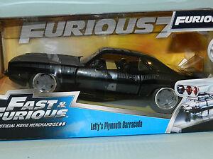 Jada-1-24-Fast-amp-Furious-Letty-039-s-Plymouth-Barracuda-Black-MiB