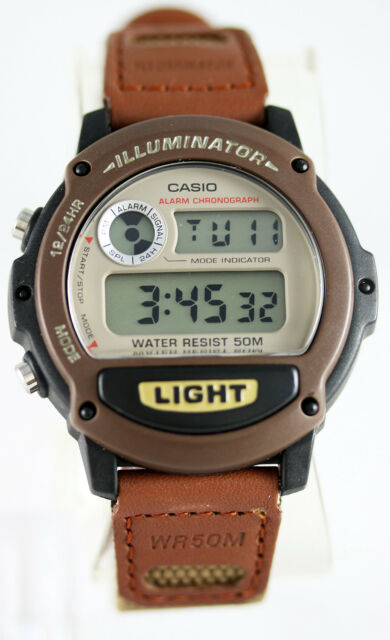 Casio W-89HB-5AV Digital Brown Watch 50M WR Backlight with Afterglow Sports New