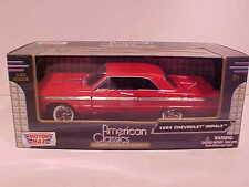 1964 Chevy Impala Coupe Hard Top Die-cast Car 1:24 by Motormax 8 inch Red