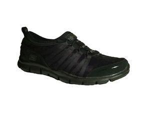 12877 Black Skechers shoe Memory Foam Women Slip On Comfort Casual Knit Mesh New