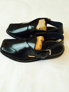 Authentic Dress Sandals Mens Afghan Arab Shoes Black Desert Leather nk80wPO