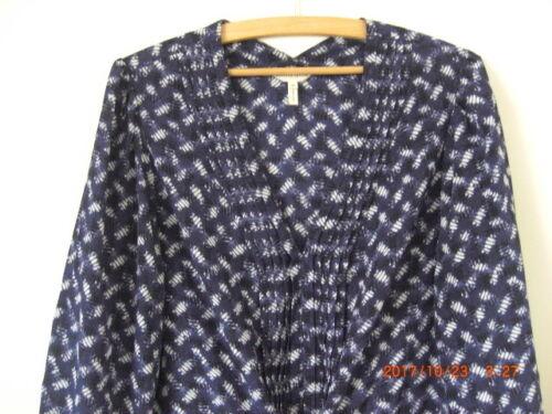 bleu soie Robe Rebecca XL 100 ajustable Taylor smockage à marine 16 tunique 18 x6zYOw4z