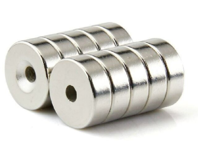 20pcs Round Neodymium Countersunk Ring Magnets 15 x 5 mm Hole 5mm Rare Earth N50