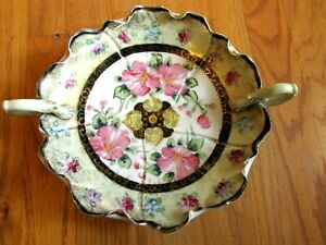 Beautiful Nippon Hand Painted Bowl Antique