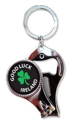 Irish Large Cartoon Leprechaun Shamrock Ireland Keyring Charm Bag Purse