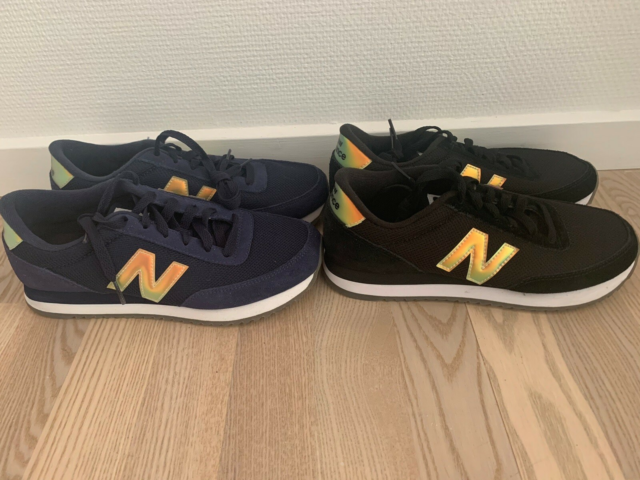 Sneakers, str. 38, New Balance,  Sort/ guld & Marine/ guld,…
