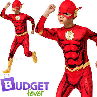 the flash boys fancy dress comic book day superhero kids childs costume outfit ebay