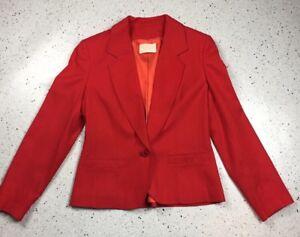 Vintage-PENDLETON-Womens-Red-100-Virgin-Wool-Blazer-Jacket-Size-6-Made-In-USA