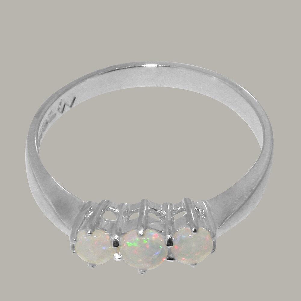 Solido 925 925 925 argentoo Sterling Opale NATURALE ANELLO DA DONNA DELLA TRILOGIA-dimensioni J a Z 5678f3