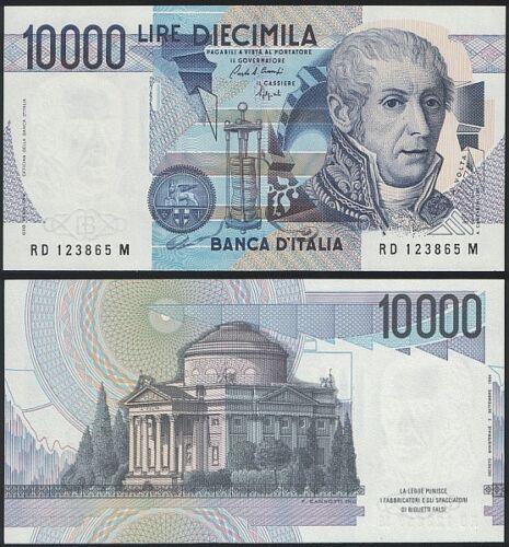 10,000 Lire 1984 UNC Italy P 112 b