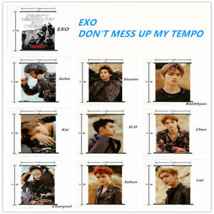 Jewelry Findings & Components Kpop Exo Dont Mess Up My Tempo Wall Scroll Poster Chen Xiumin Hang Up Fabric Photo Picture Jewelry & Accessories