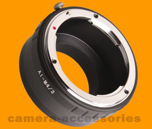 Nikon Nikkor Lente micro cuatro tercios m4//3 Anillo Adaptador de Montaje Olympus Panasonic