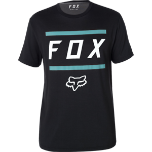 Maniche Racing Fox poussiᄄᆭreux shirt Tee noir Corte 0knO8wPX