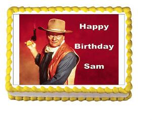 John Wayne Birthday Party Icing Edible Cake Topper 1 4