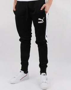 0bf3aef2f1 Puma Iconic T7 Track Pants in Black - tracksuit bottoms, joggers | eBay