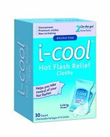 I-cool Hot Flash Relief Cloths 30 Count Free Shipping