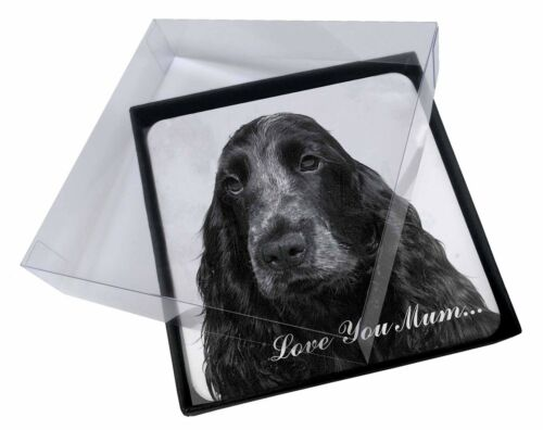 AD-SC26lymC 4x Roan Cocker Spaniel /'Love You Mum/' Picture Table Coasters Set in