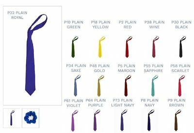 Infant School Plain Tie Clip On Elastic Ties Pack Of 5 Uk Cheapest Price From Our Site Temperate High Junior