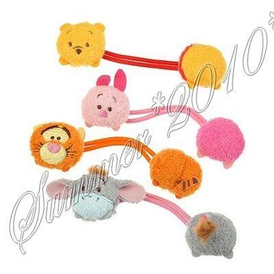 4PCS TSUM Girls Plush Elastic Hair Tie Hairband Ponytailer Pretties Rubber Band