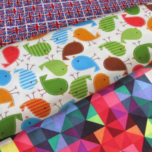 """100/% cotton fabric for quilting /& sewing~ 60/"""" wide~ per half M ~ pattern choice"""