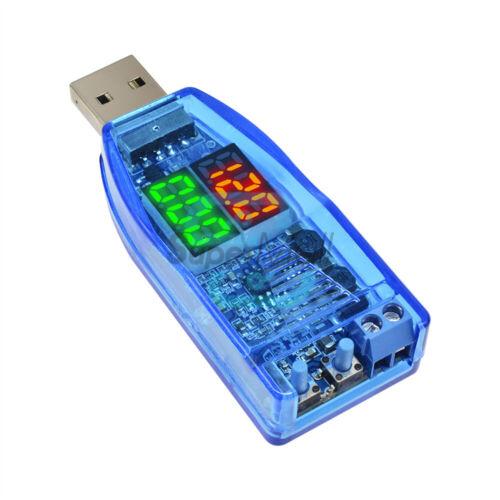 USB Step Up//Down Voltage Converter Dual LED Display 5V to 1-24V Side Button