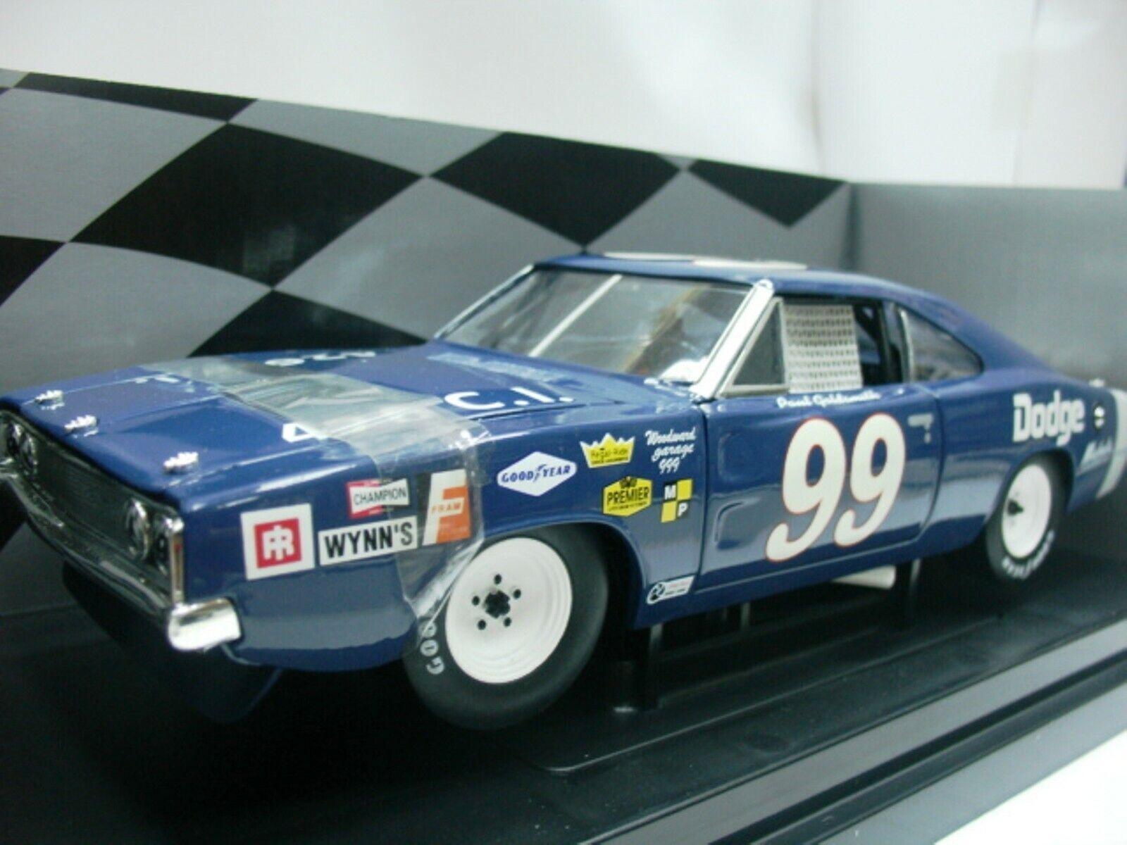 Wow extrêmement rare Dodge Chargeur 500  99 P. orsmith NASCAR 1969 1 18 RC2 ERTL