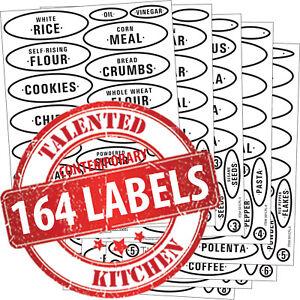 Talented Kitchen 224 Bold Black Pantry /& Fridge Labels