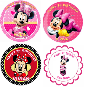MINNIE MOUSE PERSONALISED Edible Cake Icing Sheet Topper ...