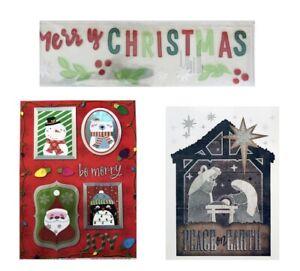 Christmas-Holiday-Window-Clings-Wall-Art-Bundles-See-Selections-NEW