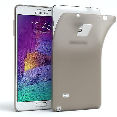 Schutz Hülle für Samsung Galaxy Note 4 Cover Handy Case Matt Hellgrau