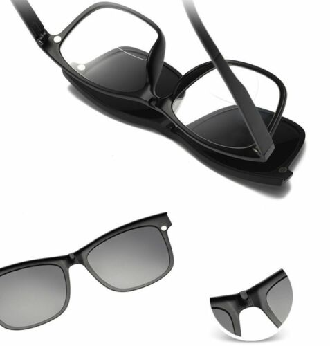 Bifocal Reading Glasses Readers H481 3 Magnetic Clip-on Polarized Sunglasses