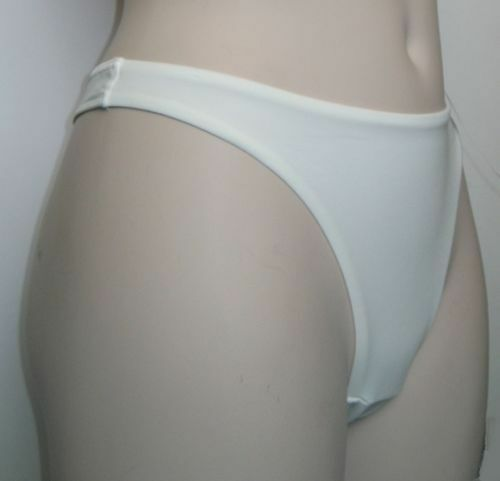 3 Pair Splendour Quality Ivory Thong Fully Lined Front Panel UK 10 Small RRP £39