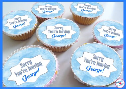 Congratulations New Job//Retirement edible Personalised Cupcake Toppers