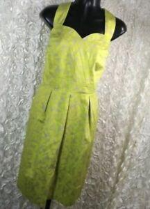 NWT-Lane-Bryant-Womens-Plus-Size-22-Green-Floral-Dress-Halter-Sweetheart-Neck
