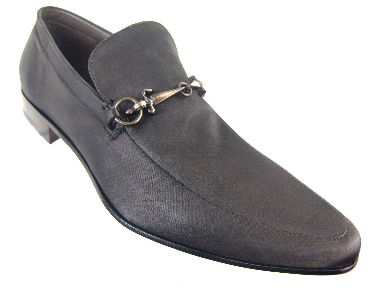 780 Cesare Paciotti US 7.5 Daggered Fancy Satin Loafers Italian Designer Scarpe