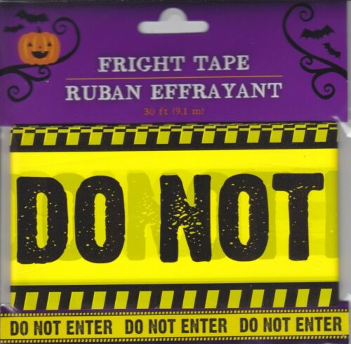 Halloween Fright Tape 30 ft Zombie Crossing Caution Haunted Do Not Enter~ Choice