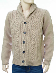 gilet cardigan torsades harris wilson homme laine beige. Black Bedroom Furniture Sets. Home Design Ideas