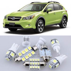 10×Xenon White LED Interior Light Kit for Subaru XV Crosstrek 2013-2014 698775964285