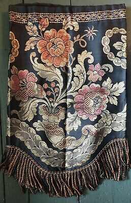 Formal Valance Heavy Fringe Floral Wine Gold Scalloped 18.5x41.5 2 Available