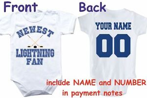 Importé De L'éTranger Bodysuit Lightning Fan Customized Personalized Name Number Tampa Bay Baby