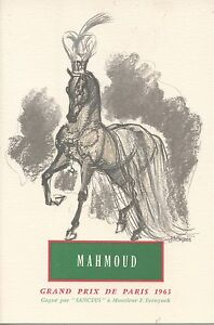 Menu / Illustrateur Jacquot / Grand Prix De Paris 1963 / Cheval / Mahmoud Nmqbfs6z-07224923-744938078