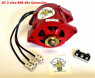 wind turbine 3 wire AC Generator unit heavy duty, 48 volt battery or grid charge