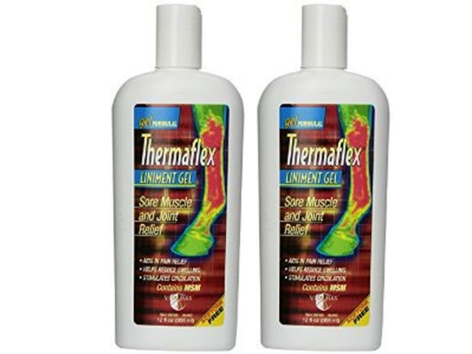 2 X 12 Oz THERMAFLEX VETERINARY LINIMENT GEL W MSM ABSORBINE muscle joint relief