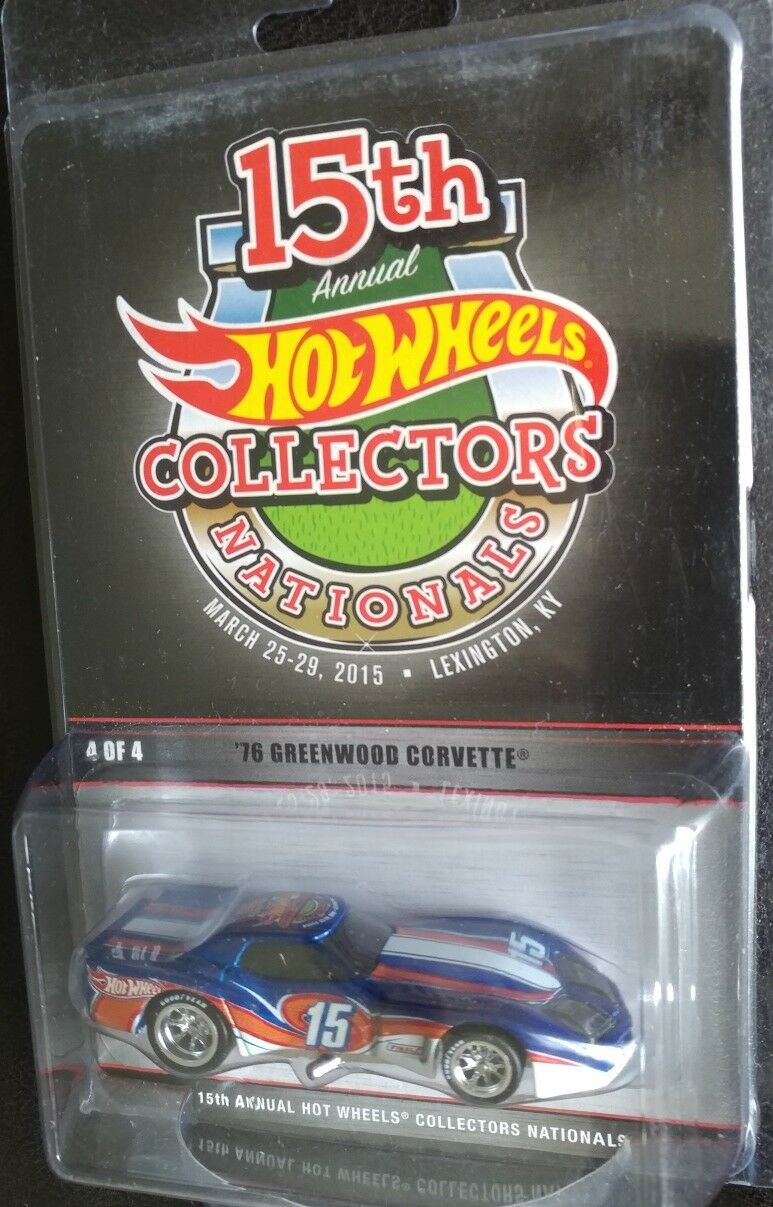 Hot Wheels 2015 Nationals 76 Greenwood Corvette 1 1200 Real Riders Convention